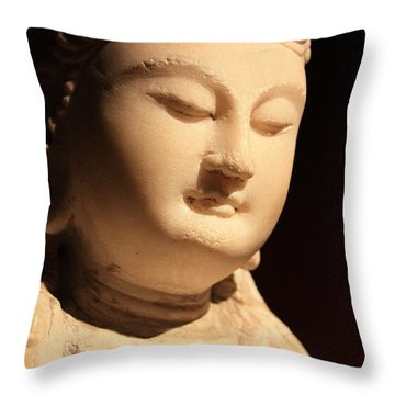 Statue Of Woman Throw Pillow