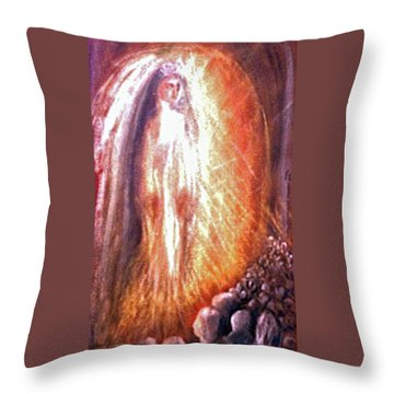 Statues At The Shrine Throw Pillow