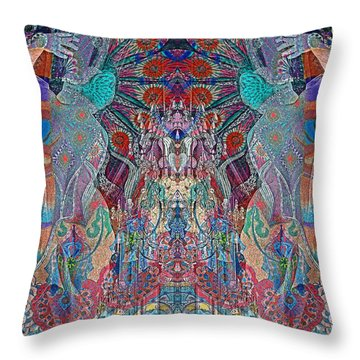 Mirrored Statues  Throw Pillow