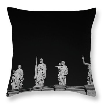 Statues On Mary, Queen Of The World Throw Pillow