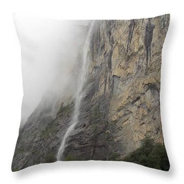 Staubbach Falls Throw Pillow