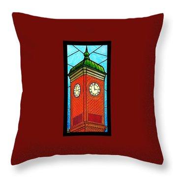 Staunton Virginia Clock Tower Throw Pillow by Jim Harris
