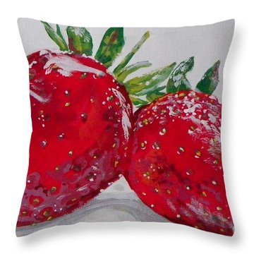 Stawberries Throw Pillow