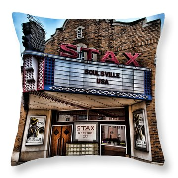 Stax Records Throw Pillow by Stephen Stookey