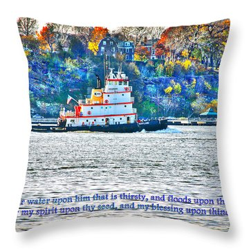 Stay Afloat With Hope Throw Pillow by Terry Wallace