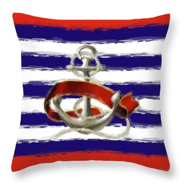 Stay Anchored Throw Pillow