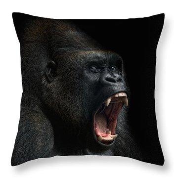 Stay Away Throw Pillow by Joachim G Pinkawa