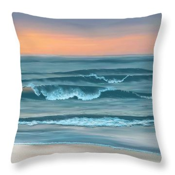 Throw Pillow featuring the digital art Stay Awhile Longer by Anthony Fishburne