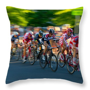 Throw Pillow featuring the photograph Stay Focused by Kevin Desrosiers