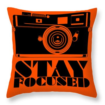 Stay Focused Poster Throw Pillow