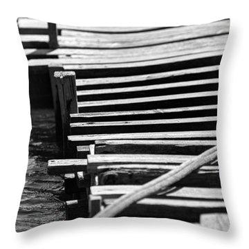 Stay Throw Pillow by Taylan Apukovska
