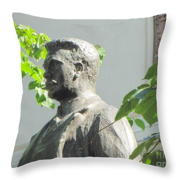 Throw Pillow featuring the pyrography Stay by Yury Bashkin