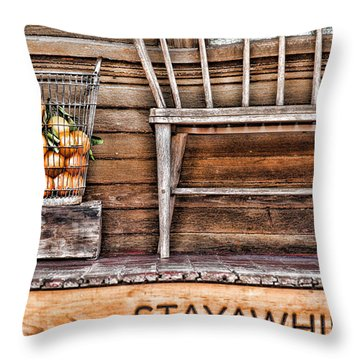 Stayawhile Throw Pillow