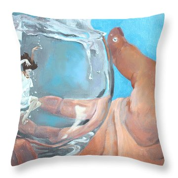 Staying Afloat Throw Pillow