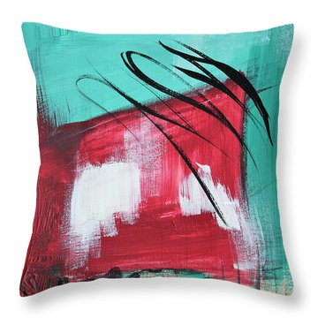 Staying In Miami Throw Pillow