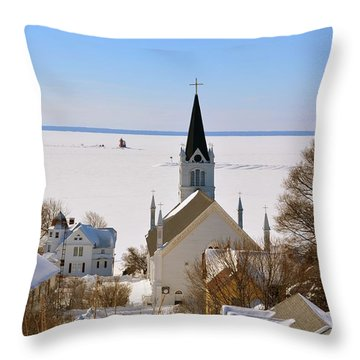Ste. Anne's In Winter Throw Pillow