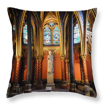 Ste.-chapelle Lower Chapel Throw Pillow by Jacqueline M Lewis
