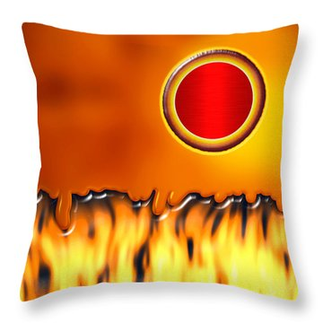 Steady Burn Throw Pillow by Wendy J St Christopher