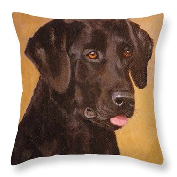 Steady Gaze Throw Pillow