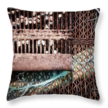 Steal And Stone Throw Pillow