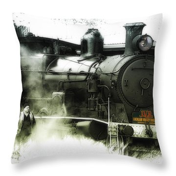 Throw Pillow featuring the photograph Steam 01 by Kevin Chippindall