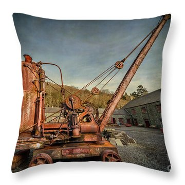 Steam Crane Throw Pillow