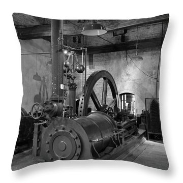 Steam Engine At Locke's Distillery Throw Pillow by RicardMN Photography