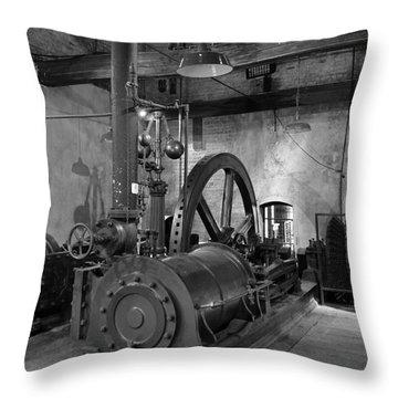 Steam Engine At Locke's Distillery Throw Pillow