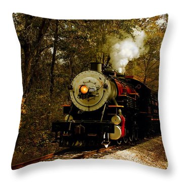 Steam Engine No. 300 Throw Pillow by Robert Frederick
