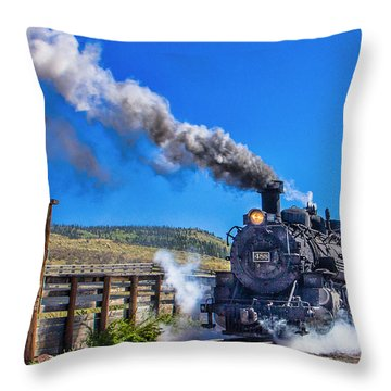 Steam Engine Relic Throw Pillow by Steven Bateson