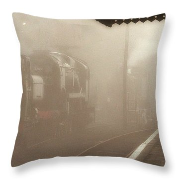 Steam Engines At Dawn Throw Pillow