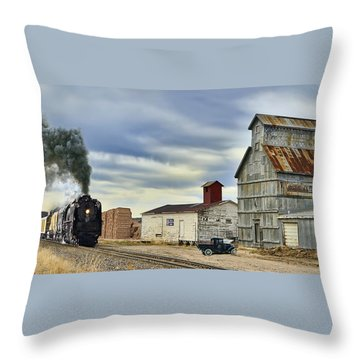 Steam In Castle Rock Throw Pillow by Ken Smith
