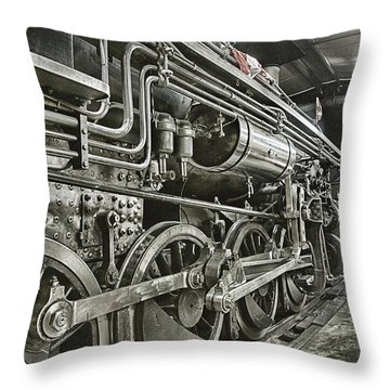 Steam Locomotive 2141 Throw Pillow by Theresa Tahara