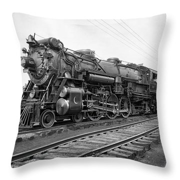 Steam Locomotive Crescent Limited C. 1927 Throw Pillow