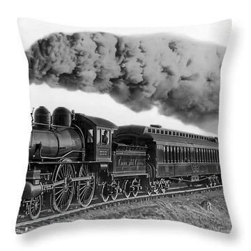 Steam Locomotive No. 999 - C. 1893 Throw Pillow