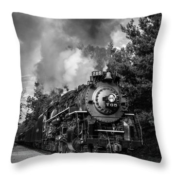 Steam On The Rails Throw Pillow