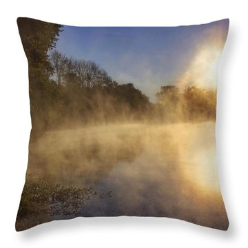 Steam On The Water Throw Pillow by Jason Politte