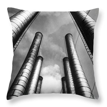 Steam Pipes At Factory Throw Pillow