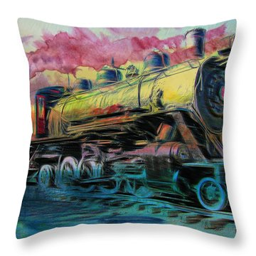 Aaron Lee Berg Throw Pillow featuring the photograph Steam Powered by Aaron Berg