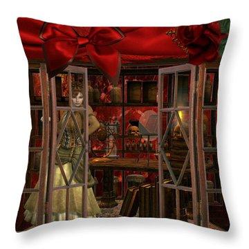 Throw Pillow featuring the digital art Steam Punk Times by Digital Art Cafe