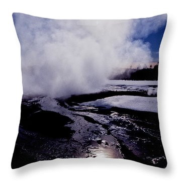 Throw Pillow featuring the photograph Steam by Sharon Elliott