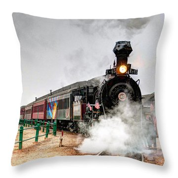 Steam Train 45 Throw Pillow by William Havle