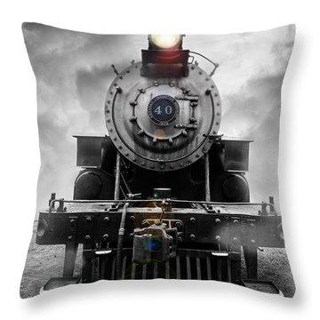 Steam Train Dream Throw Pillow
