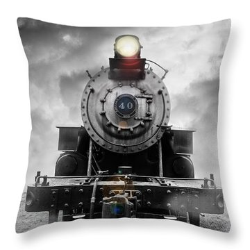 Steam Train Dream Throw Pillow