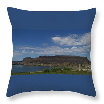 Steamboat Rock Throw Pillow