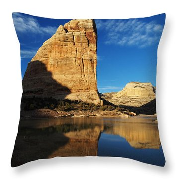 Steamboat Rock In Dinosaur National Monument Throw Pillow