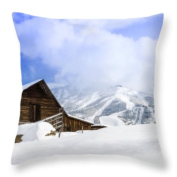 Steamboat Springs Throw Pillow by Teri Virbickis