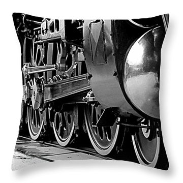 Throw Pillow featuring the photograph Steamer Up 844 Wheels by Bartz Johnson