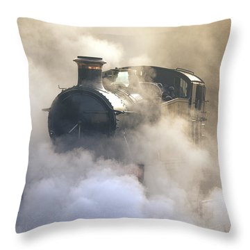 Steaming At Dawn No1 Throw Pillow