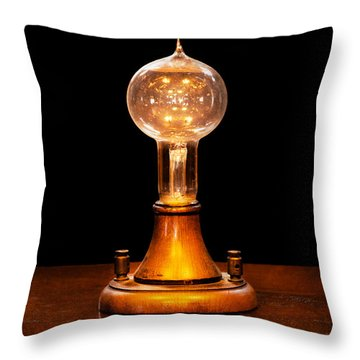 Steampunk - Electricity - Bright Ideas  Throw Pillow by Mike Savad